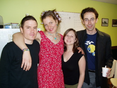 antje with her band after the show austin nevins antje kate klim jacob lawson