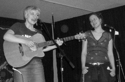 antje and anais mitchell at the crossroads coffeehouse