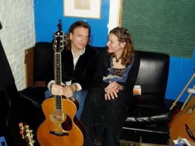 Antje with Ellis Paul at Club Passim