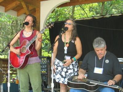 Antje Lisabeth Weber Loyd Maines at the Philadelphia Folk Fest photo David Broida
