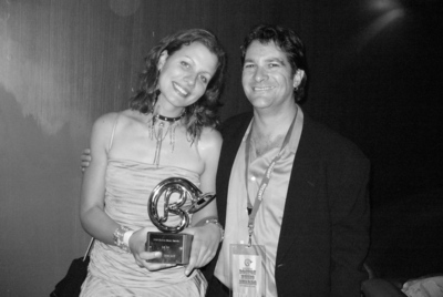 Antje with manager Ralph Jaccodine